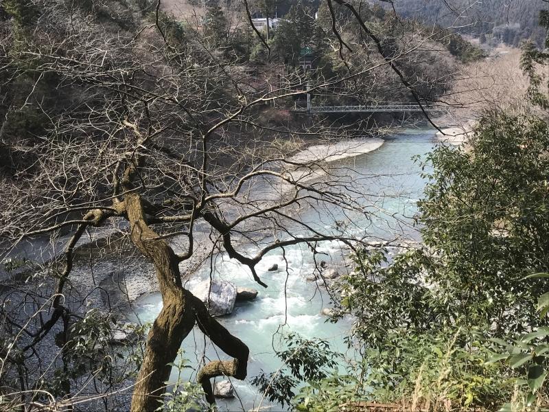 Tamagawa river viewed from garden of Sawanoi Hair Ornament Museum