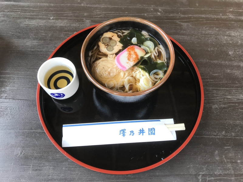 Simple and healthy Soba, Japanese buckwheat noodles, lunch