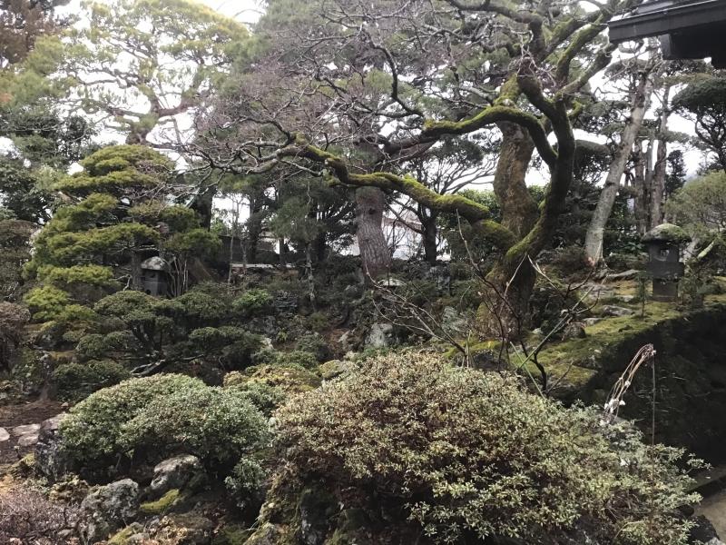 Japanese garden at Sake brewery
