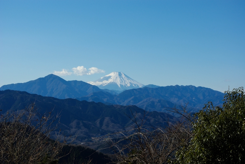 Mt. Fuji viewing from the top of Mt. Takao
