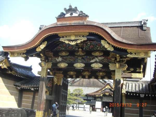 Lavishly decorated entrance gate of  Ninomaru Palace in Nijyo-jo Castle