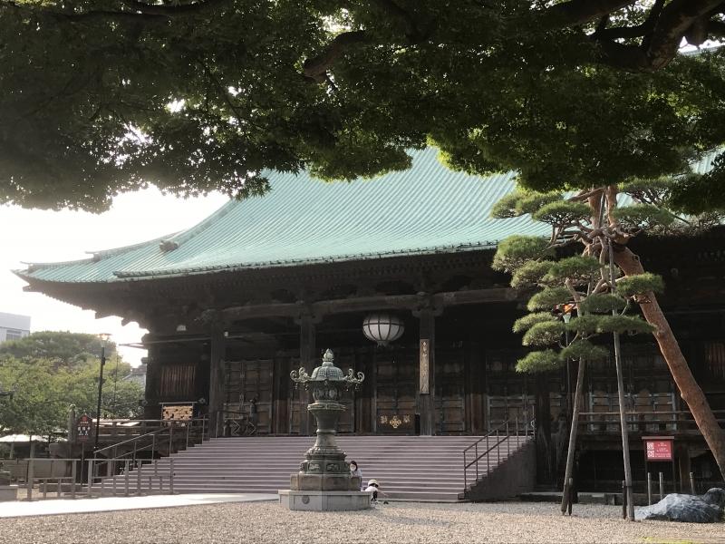 Gokokuji Temple before rainy season, tsuyu, in Tokyo