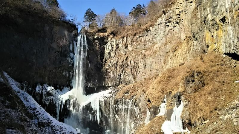 Frozen Kegon Fall in winter