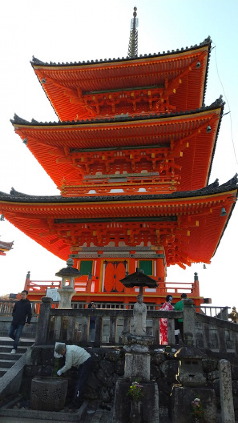 Three layers pagoda in Kiyomizu temple