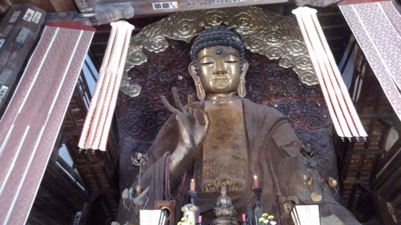 it is one of the three biggest Buddha statues in Japan, next to in Nara and Kamakura