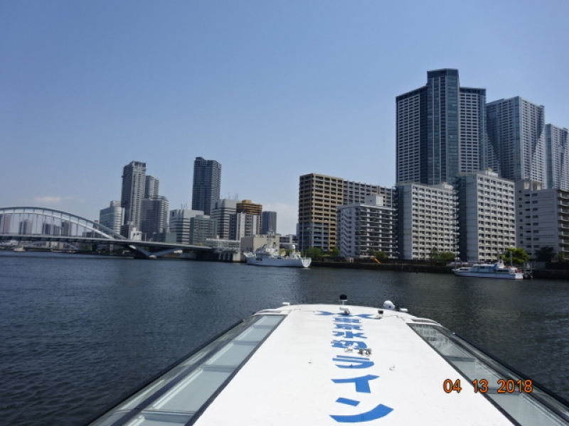 Tokyo  water bus on the Sumida River