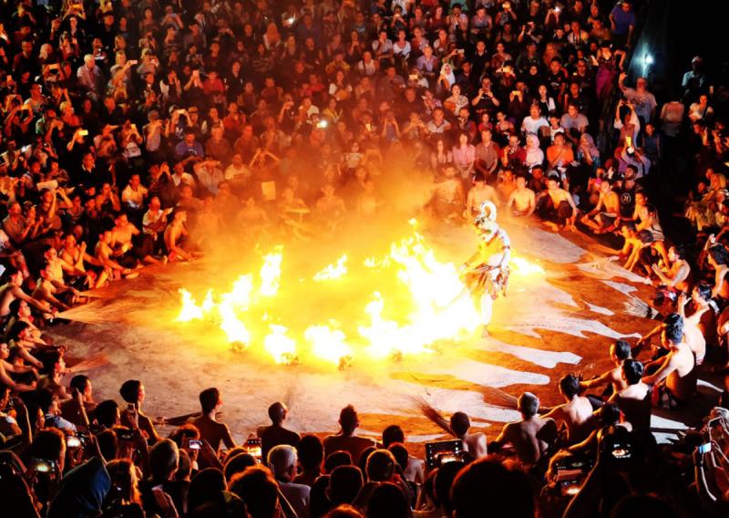 Kecak dance with fire show