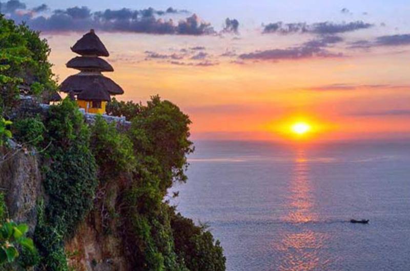 The sunset from Uluwatu Temple