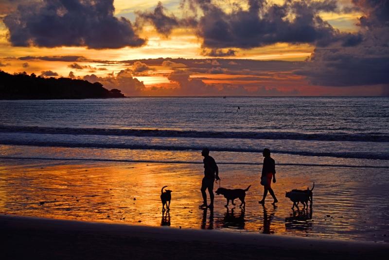 Sunset at Jimbaran bay