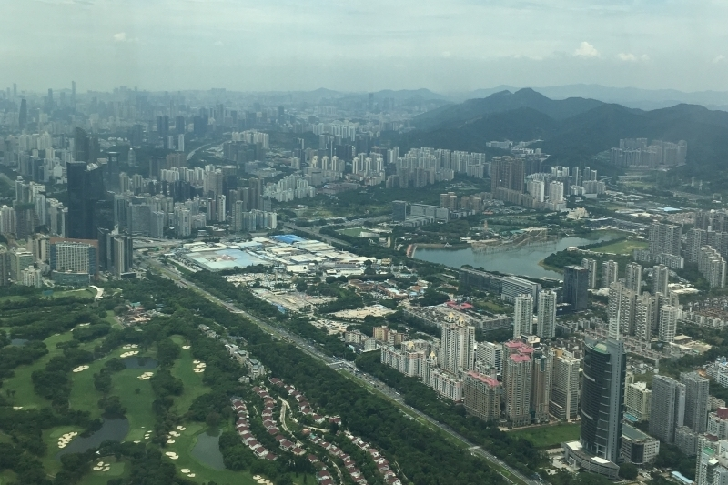 the view from the Pingan Finance Center