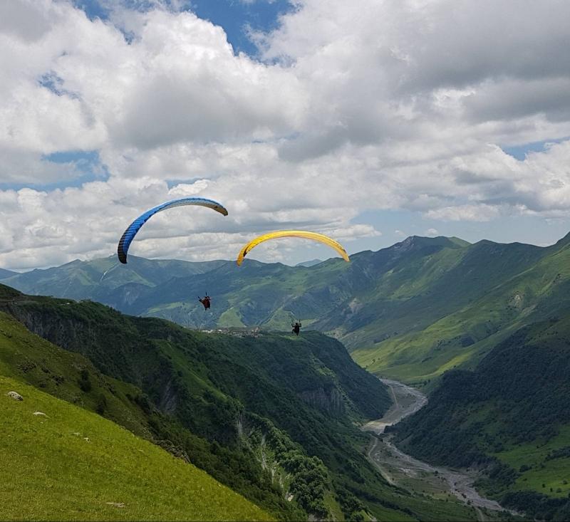 Paragliding over the Caucasus