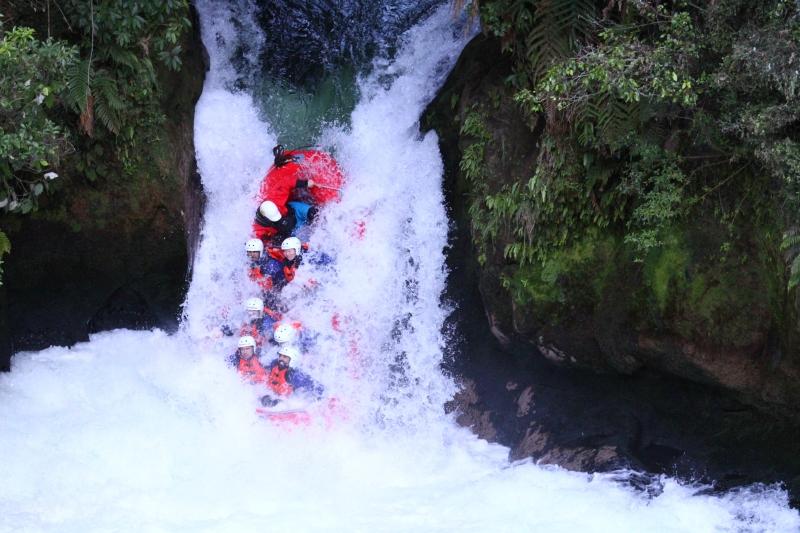 River rafting near Rotorua in New Zealand's North Island