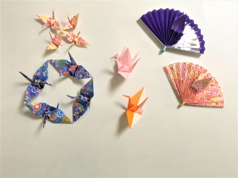 A series of second step Origami crane variation.