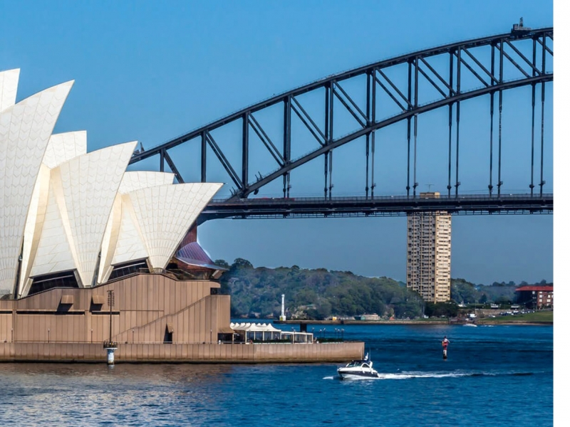 No visit to Australia is complete without a quick stop at the best vantage point of the Sydney Harbour Bridge and Opera House