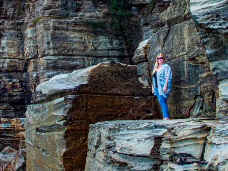 Explore dramatic coastlines, find fossilized fish and sculptured sandstone