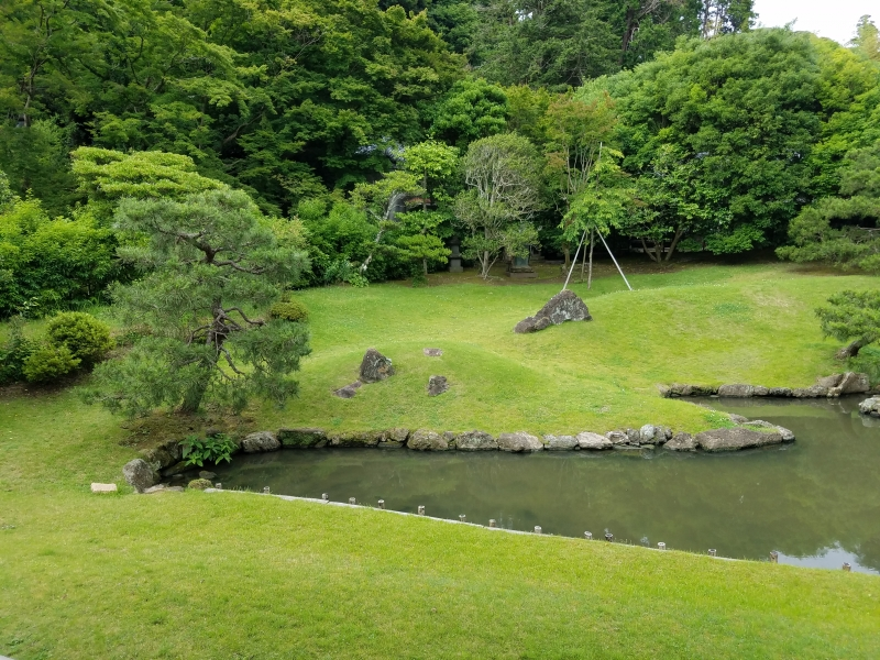 The garden designed by the founder.