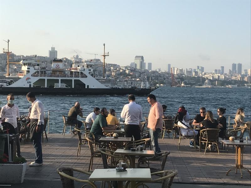 A ferry on the Bosphorus