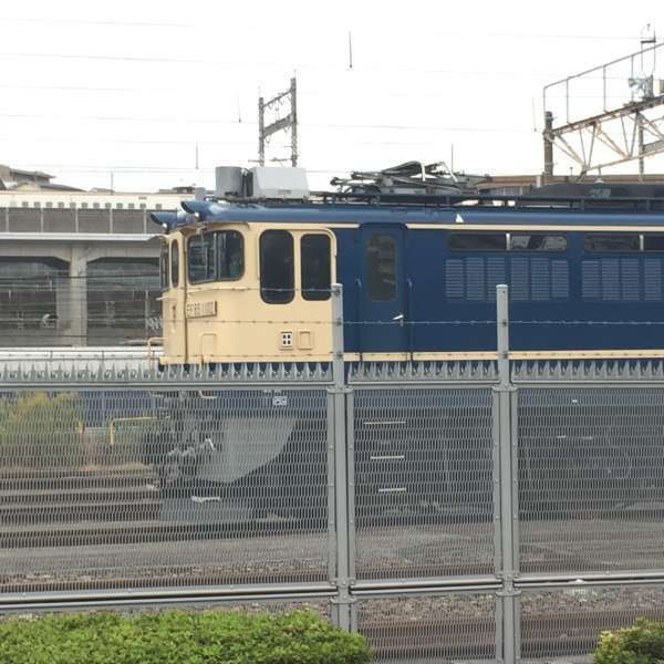 A freight train in the Tabata train base