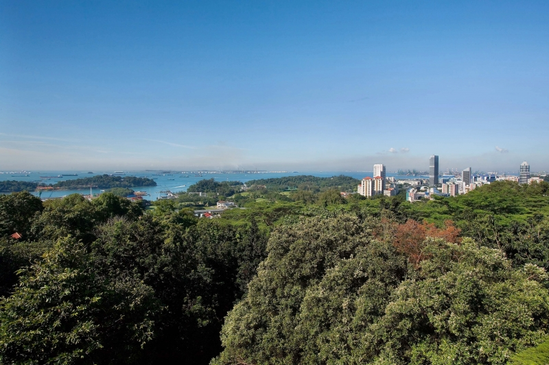 View of the southern islands of Singapore