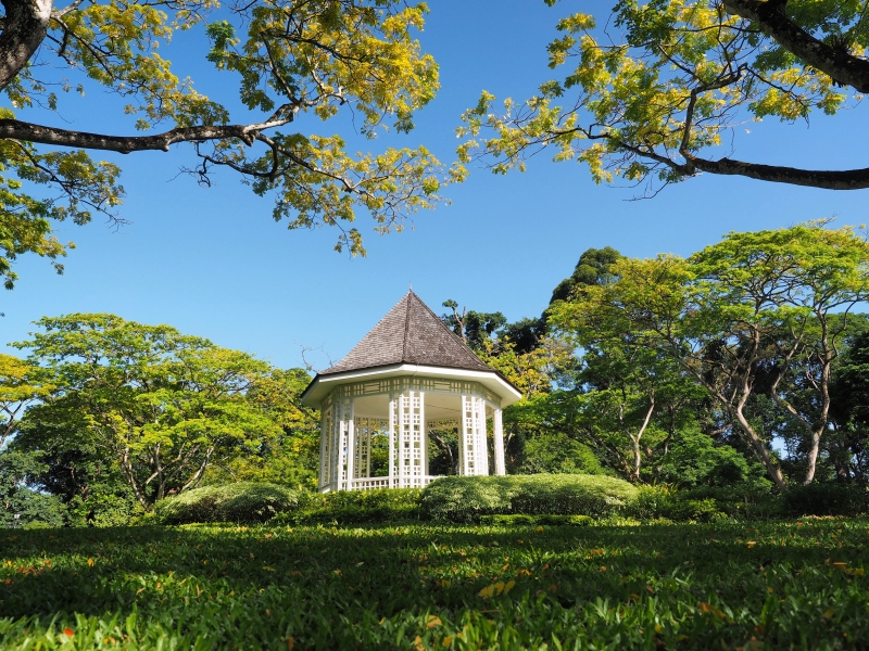 At the Bandstand in Singapore Botanic Gardens