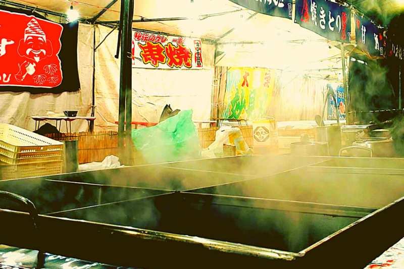 One of our street stalls serving the taste of authentic Osaka.