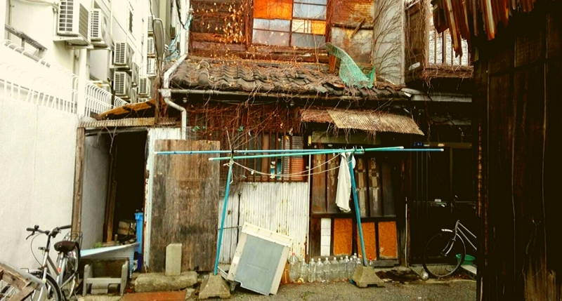 Abandoned houses district..in the city!! Unbelievable.