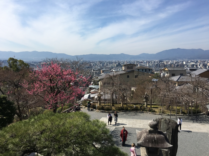 The great view of Kyoto city