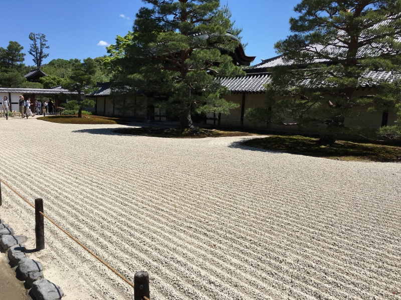 The dry landscape garden at Tenryuji Temple