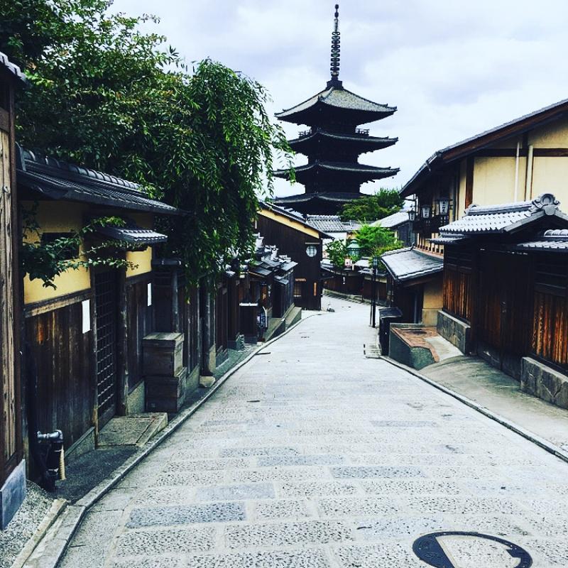 Yasaka Pagoda near Ninanzaka slope in Higashiyama area