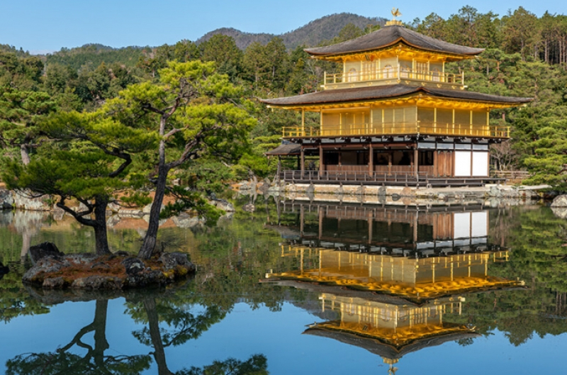 Kinkakuji Temple, one of the most popular sightseeing sites in Kyoto