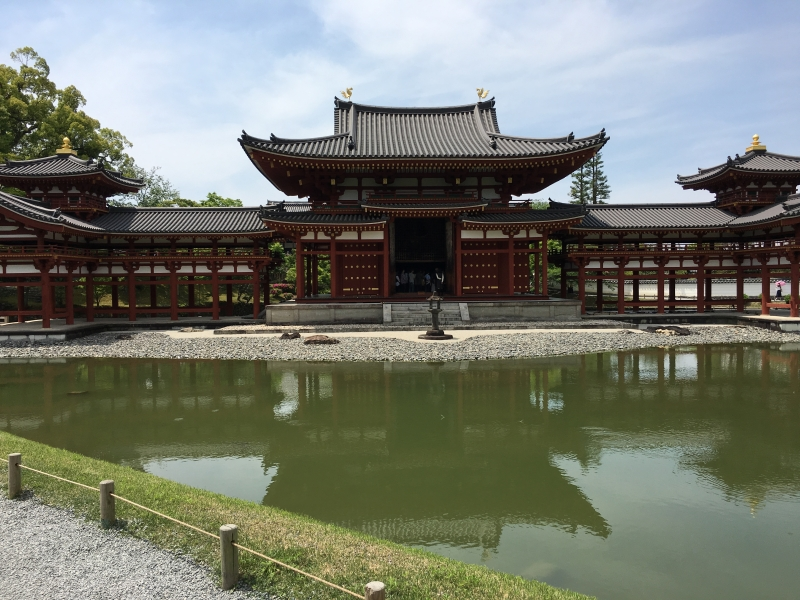 Byodoin Temple in Uji where you can enjoy a variety of Matcha food items