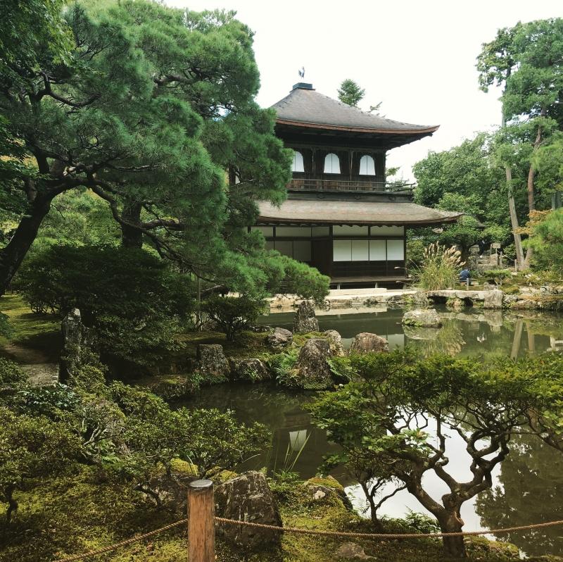 Ginkakuji Temple representing the Japanese sense of beauty called Wabi Sabi