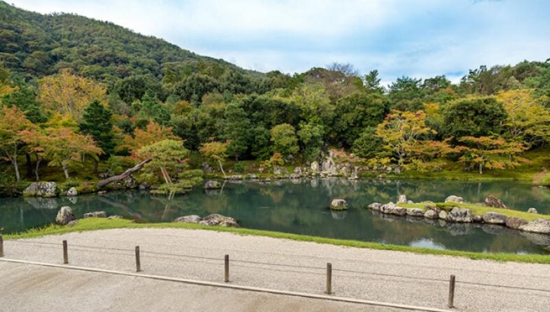 Zen garden at Tenryuji Temple in Arashiyama