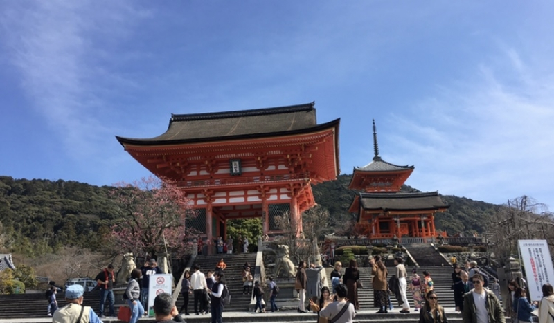 The main entrance gate of Kiyomizudera Temple