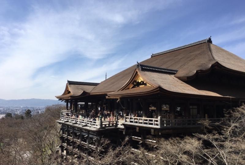 The main building of Kiyomizudera Temple