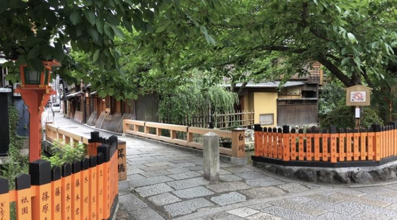 Gion and Shirakawa river