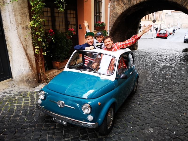 Make your friends GREEN with envy! PURE ENERGY&FUN !!! FIAT 500 Tours in Rome Make your Roman Holidays unbelievable :)