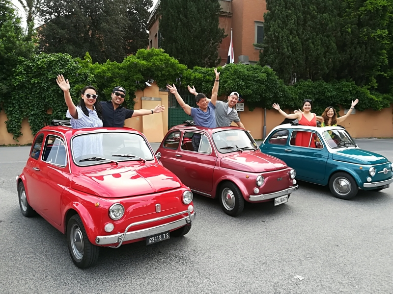 ADVENTURE and Fiat 500 is out there!