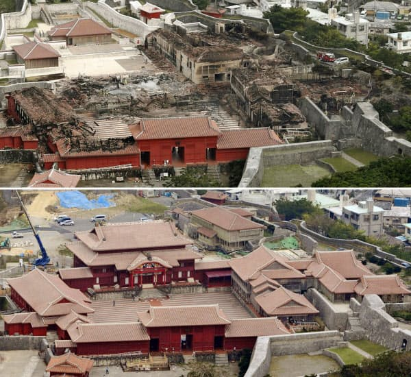 SHURIJO castle Before After Oct. 31, 2019, castle was burn down by fire disaster.  Partially open to the public.  It will be restored until 2026 for now.