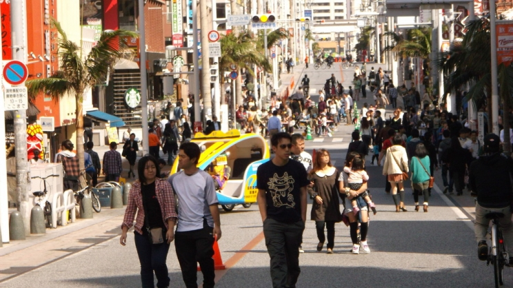 KOKUSAI street Most busy shopping street, souvenir shops, fancy restaurants, local markets and so on
