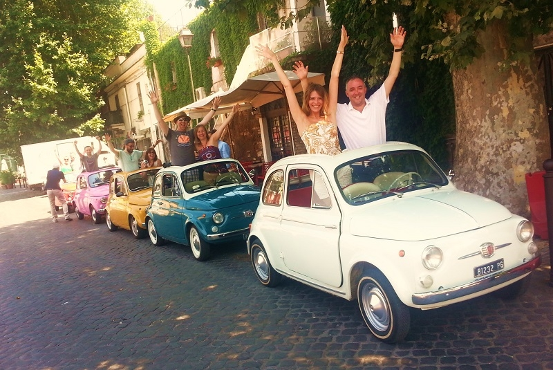 EXP Magic aboard our FIAT 500 classic cars.  Make your friends green with envy, Whatsapp them with your mad selfies ;) Happiness exists, make it happen!