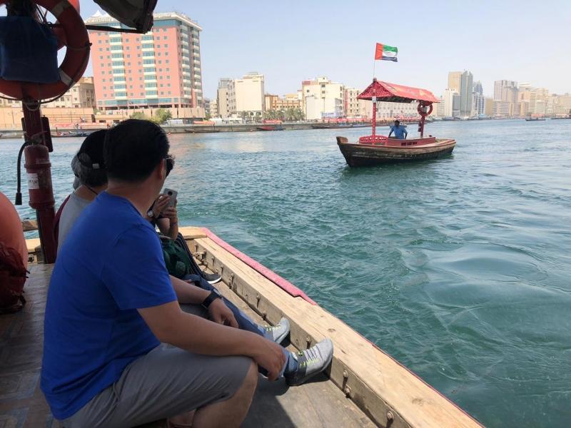 Abra Boat cross the Creek Dubai
