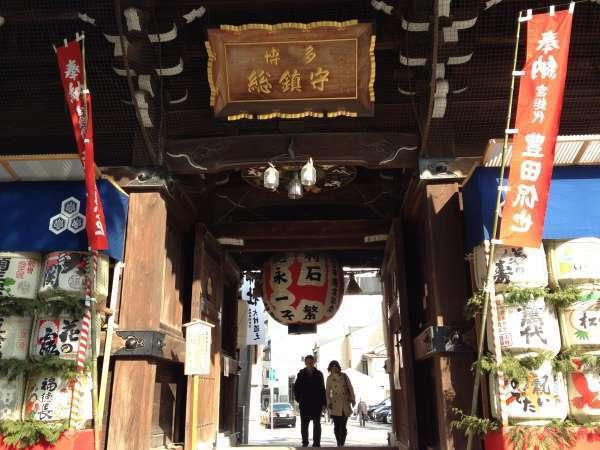 The main gate of Kushida Shrine.