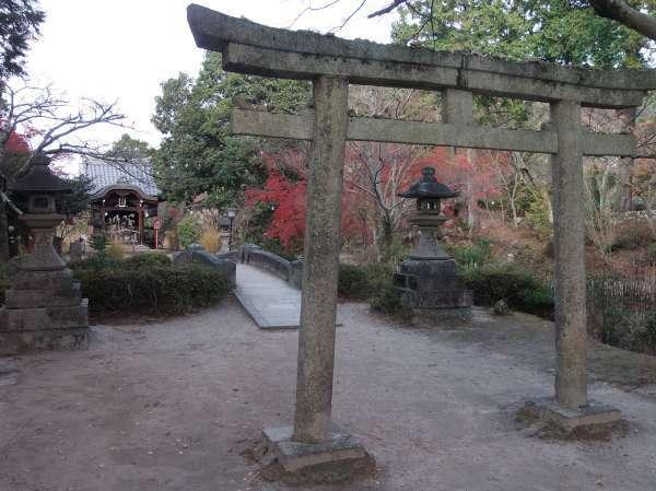 Torii gate outside Manshuin