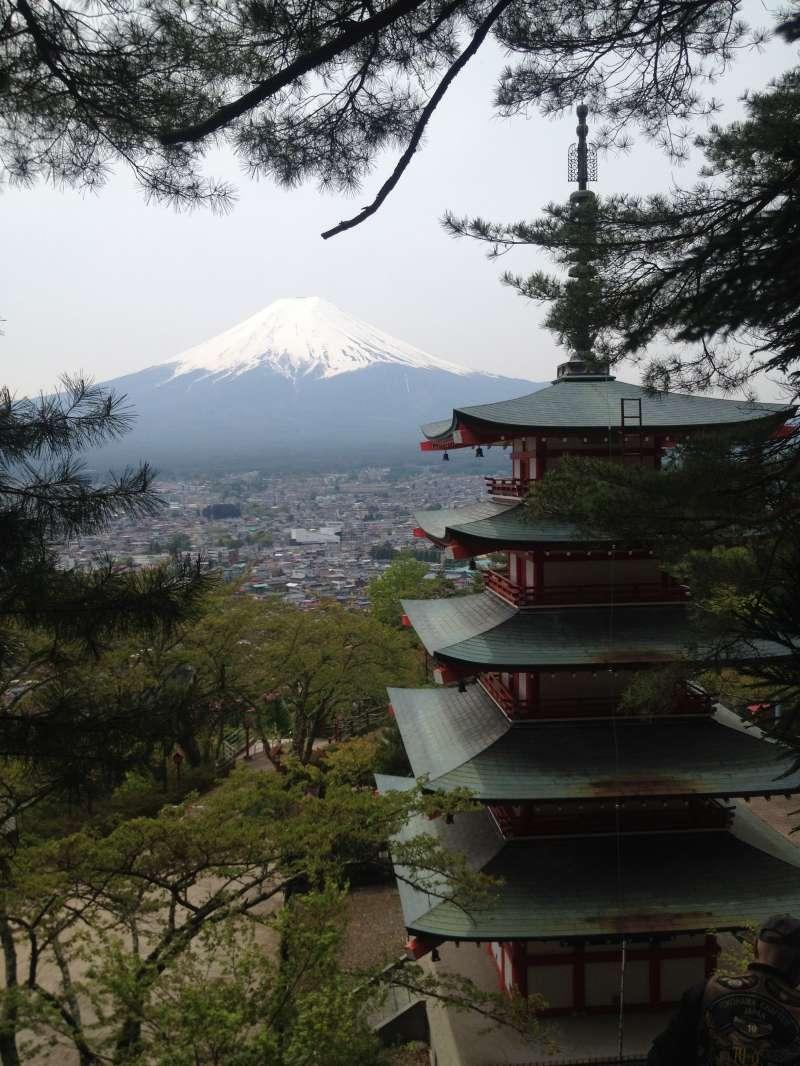 Mt. Fuji from Fuji-Yoshida.