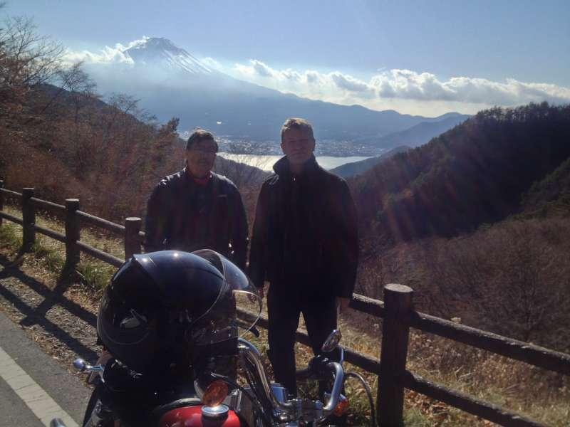 Mt. Fuji from old Misaka mountain pass