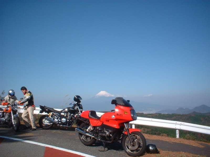 Mt. Fuji over Yamanakako lake