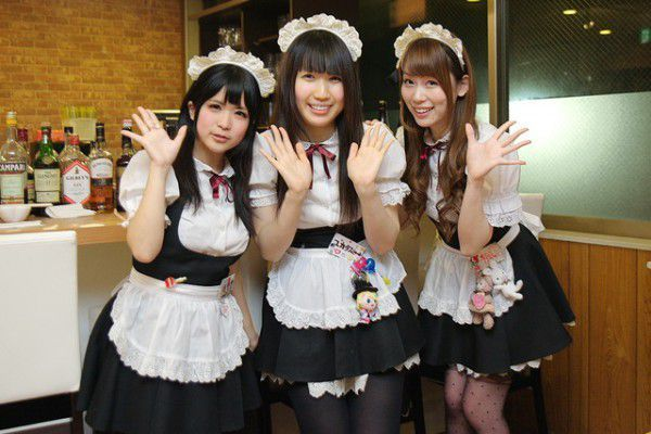 Maids in french maid style costume