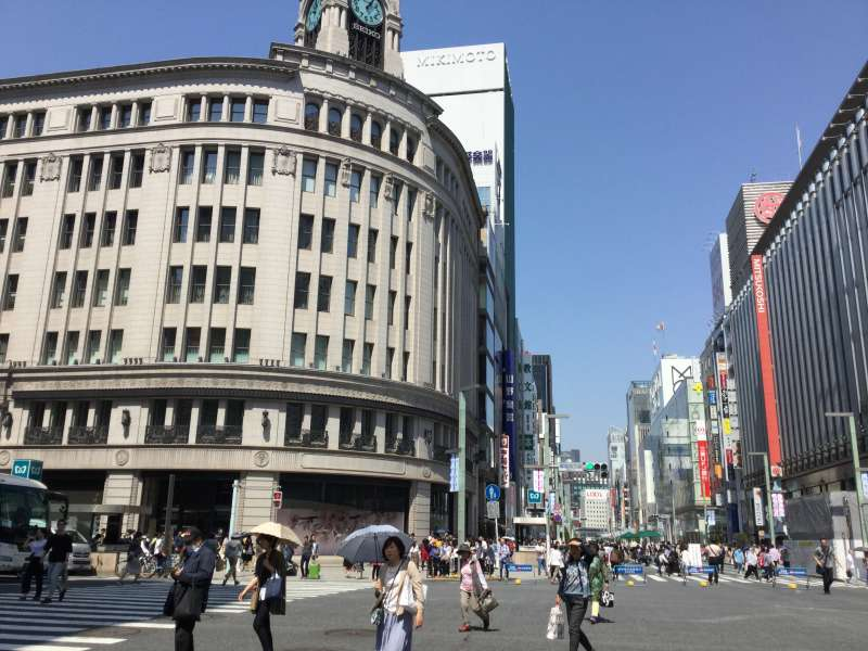 S2. Ginza (Large department stores and brand shops. )