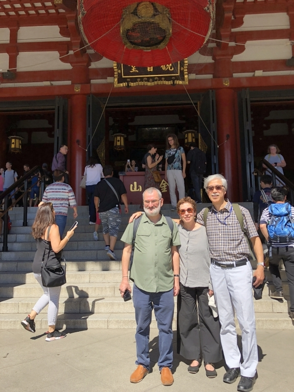 Asakusa Sensoji Temple, with a lovely couple from Rome